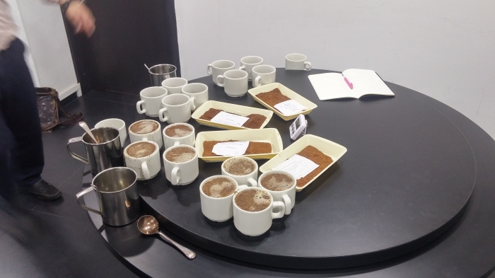 Cupping four Colombian origins in Bogota